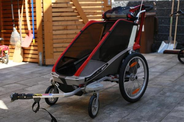 wir verkaufen unseren fahrradanh nger chariot cougar. Black Bedroom Furniture Sets. Home Design Ideas