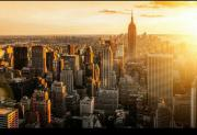 Fototapete City Sunset