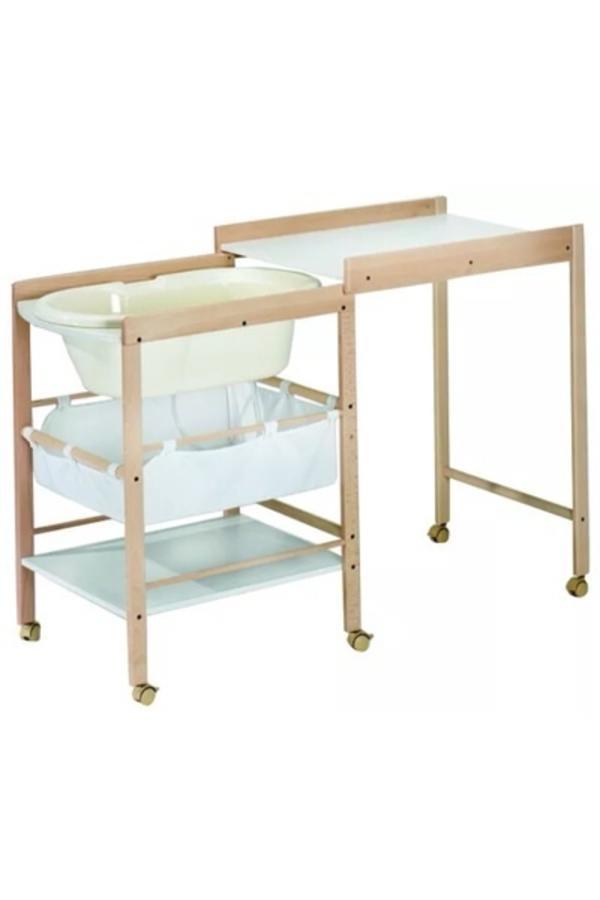 verkaufe einen geuther wickeltisch zum ausziehen inkl badewanne der tisch hat einige. Black Bedroom Furniture Sets. Home Design Ideas