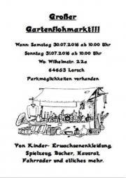 Großer Gartenflohmarkt
