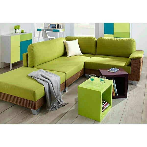 Gr n sofa neu und gebraucht kaufen bei for Ecksofa 70er
