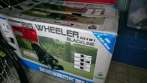 g de big wheeler 515 4in1 blackline nagelneu in leinburg gartenger te rasenm her kaufen und. Black Bedroom Furniture Sets. Home Design Ideas