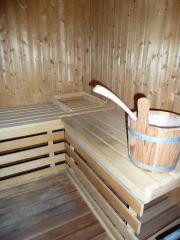 Gut erhaltene Sauna