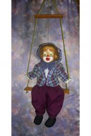 Harlekin-Puppe-Clown.