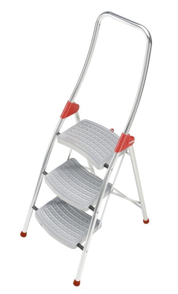 haushaltsleiter hailo 4393 551 klapptritt 3 stufen. Black Bedroom Furniture Sets. Home Design Ideas