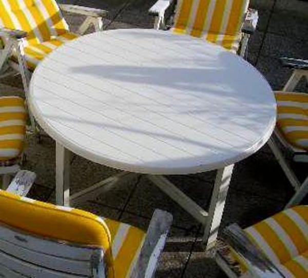 herlag terrassen gartentisch ca 140 cm durchmesser ca 75 cm h he in m nchen gartenm bel. Black Bedroom Furniture Sets. Home Design Ideas