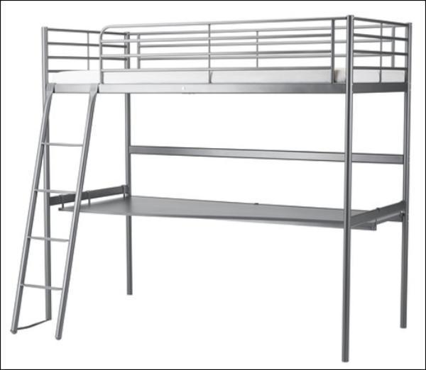 hochbett ikea sv rta mit arbeitsplatte in m nchen ikea. Black Bedroom Furniture Sets. Home Design Ideas