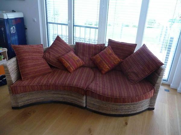 hochwertige couch in rattanoptik bananenblatt in abstatt kaufen und verkaufen ber private. Black Bedroom Furniture Sets. Home Design Ideas