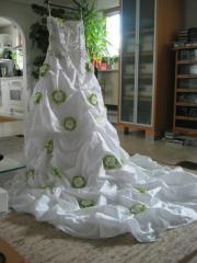 Hochzeit Braut Satinrosen