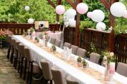 Hochzeitsdeko weiß / rosa