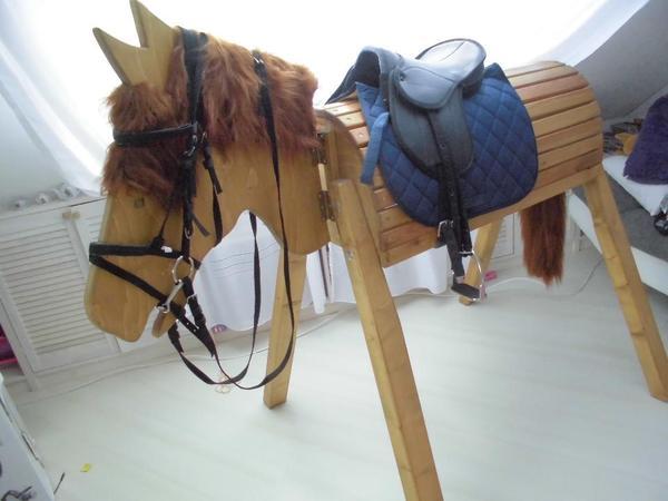 Voltigierpferd Aus Holz Bauanleitung ~ Schönes Holzpferd zum Spielen und liebhaben Sattelhöhe 116cm