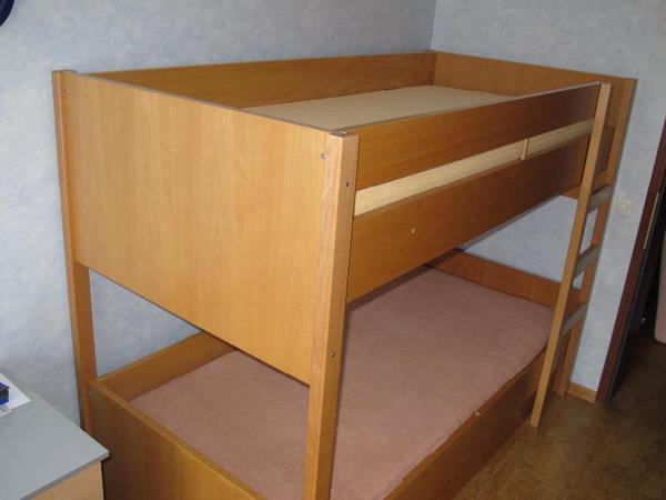 h lsta stockbett buche echtholzfurnier bettkasten. Black Bedroom Furniture Sets. Home Design Ideas