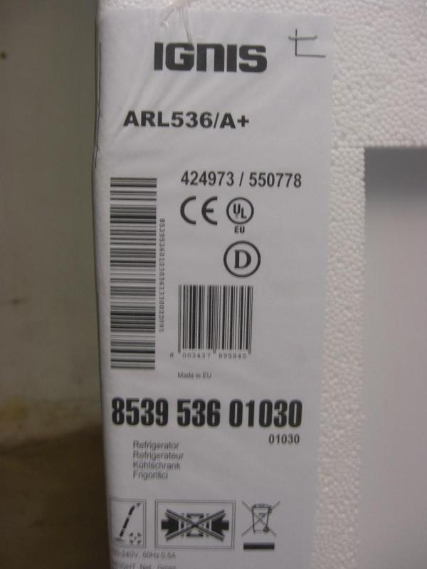 Ignis einbaukuhlschrank arl 536 a neu original for Ignis einbaukühlschrank