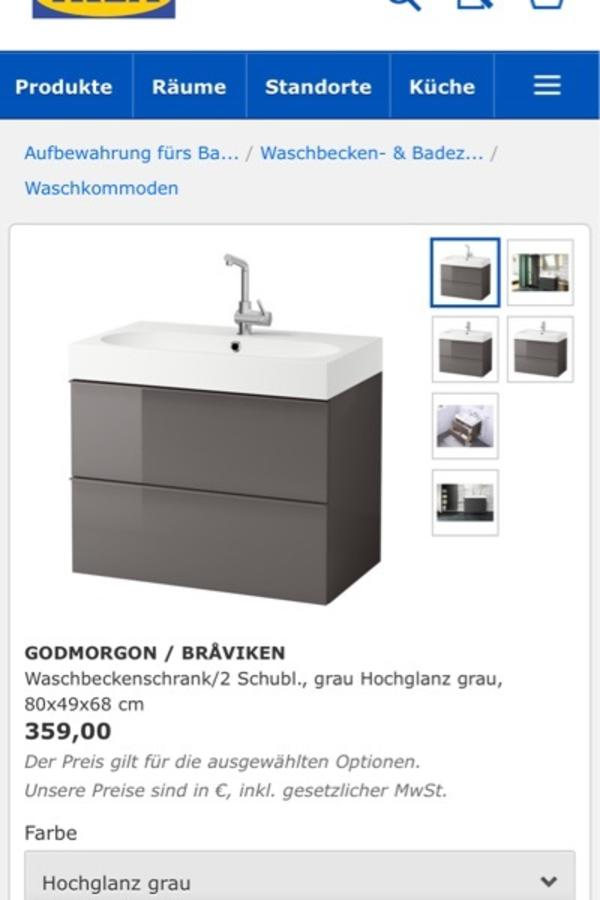 ikea badm bel hans grohe in ettlingen bad einrichtung und ger te kaufen und verkaufen ber. Black Bedroom Furniture Sets. Home Design Ideas