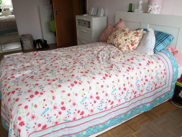 pin bett und kopfteil brimnes von ikea via home network flickr on pinterest. Black Bedroom Furniture Sets. Home Design Ideas