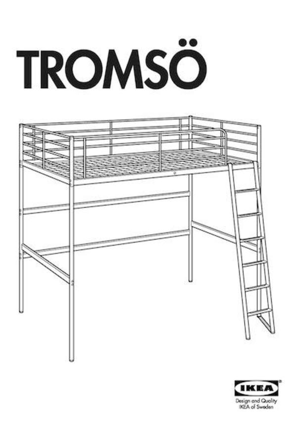 Ikea Grundtal Wall Drying Rack ~ Ikea Metallhochbett Tromsö Farbe Silber Pictures to pin on Pinterest