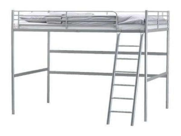 IKEA Hochbett Tromsö 90 x 200 grau in Mannheim  Betten kaufen und