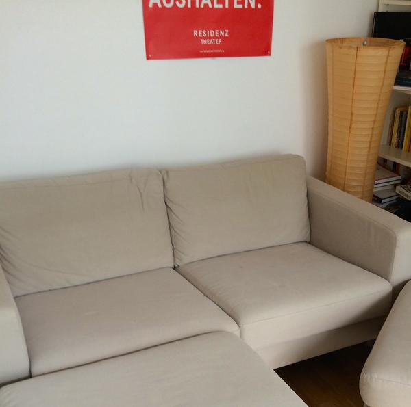 ikea karlstad 2er sofa neuwertig beige in m nchen polster sessel couch kaufen und. Black Bedroom Furniture Sets. Home Design Ideas