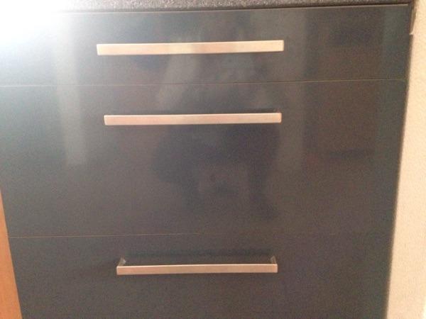 ikea k che faktum hochglanz dunkelgrau in b rstadt. Black Bedroom Furniture Sets. Home Design Ideas
