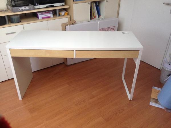 Ikea schreibtisch dunkelbraun for Schreibtisch micke
