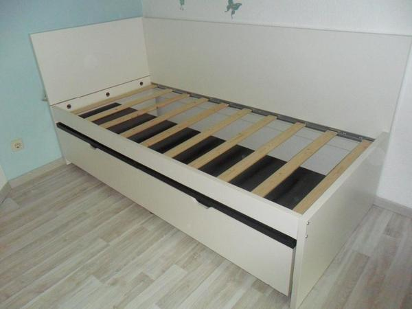 ikea odda flaxa bett 90 x 200 cm inkl dunlopillo matratze topper in wurmberg betten kaufen. Black Bedroom Furniture Sets. Home Design Ideas