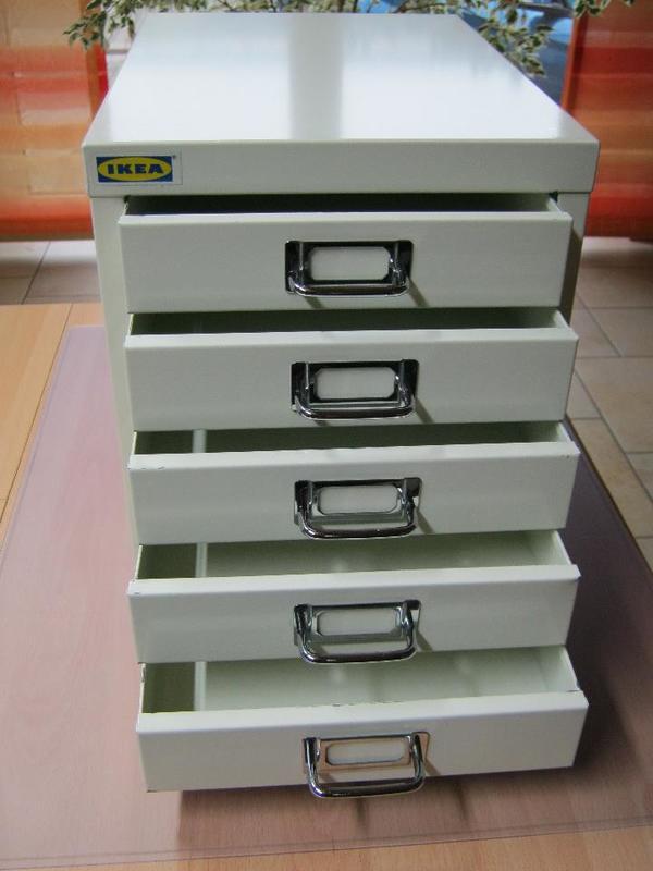 ikea schubladenbox aufbewahrungsbox aus metall 5 schubladen in merkendorf b romaterial kaufen. Black Bedroom Furniture Sets. Home Design Ideas