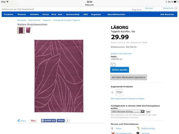 Ikea teppiche  Einrichtungsgegenstände  einebinsenweisheit