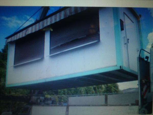 imbiss container garage bauwagen baubude b rocontainer in. Black Bedroom Furniture Sets. Home Design Ideas