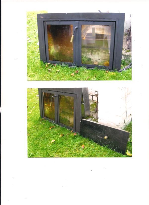 ein fast neuer kamin einsatz ma e 73 cm breit und 49 cm hoch f r einen offenen kamin mit 2. Black Bedroom Furniture Sets. Home Design Ideas