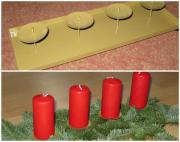 Kerzenschale Advendstablett Kerzenhalter