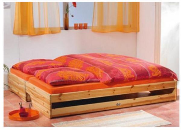 klapp tagesbett doppelbett 31x204x192cm mit 2x matratzen wie neu in karlsruhe betten kaufen. Black Bedroom Furniture Sets. Home Design Ideas