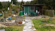 Kleingarten mit Gartenhütte