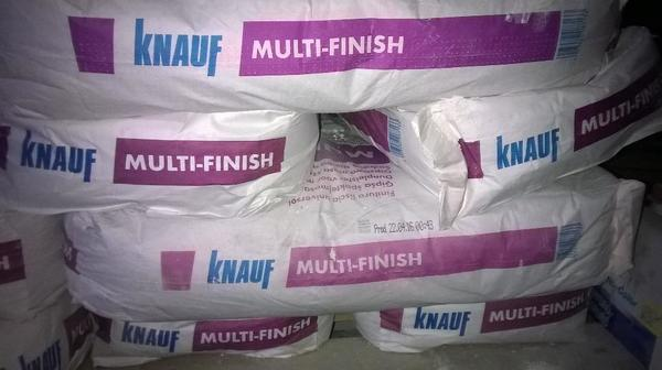 knauf multifinish spachtelmasse 12 x 25kg in ubstadt weiher sonstiges material f r den hausbau. Black Bedroom Furniture Sets. Home Design Ideas