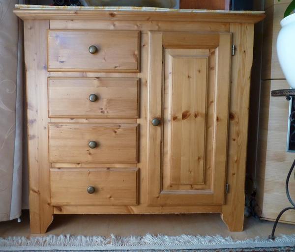 kommode massivholz sideboard kiefer 4 schubladen gebraucht in m nchen schr nke sonstige. Black Bedroom Furniture Sets. Home Design Ideas