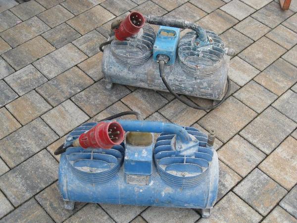 scheunefund 2 kompressoren f r putzmaschine funktionsf hig typ k 2 1 kompressor 380 volt 1 6 a. Black Bedroom Furniture Sets. Home Design Ideas