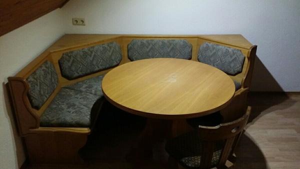 k che mit eckbank und tisch zu verschenken in hard k chenzeilen anbauk chen kaufen und. Black Bedroom Furniture Sets. Home Design Ideas