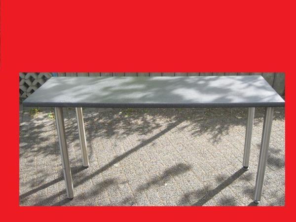 k chenarbeitsplatte werkbank auf edelstahl tischbeinen np240eur neu in wermelskirchen. Black Bedroom Furniture Sets. Home Design Ideas