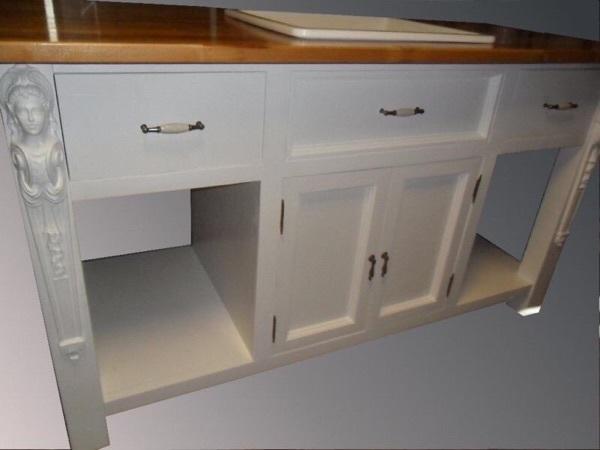k chenm bel sp le freistehend im jugendstil gr nderzeit mit keram in f llanden k chenm bel. Black Bedroom Furniture Sets. Home Design Ideas