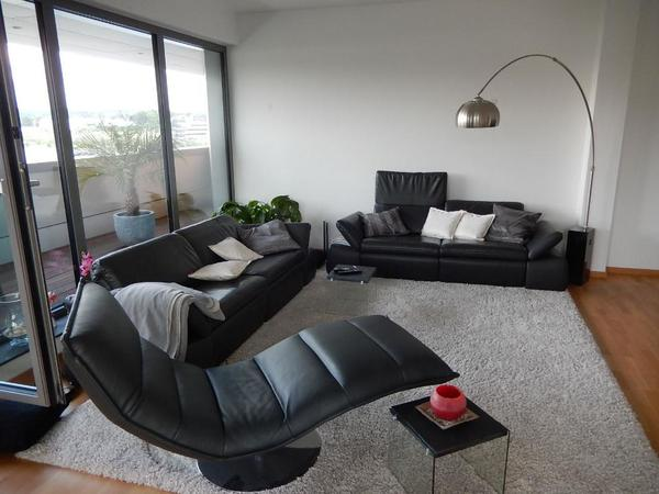 ledergarnitur koinor evento sofa leder 3 sitzer und 2 5 sitzer musterring in duisburg. Black Bedroom Furniture Sets. Home Design Ideas