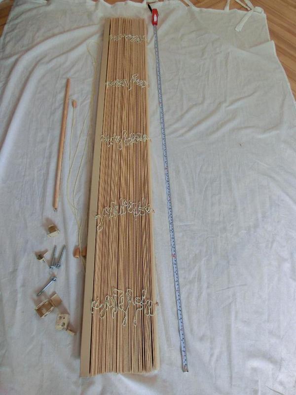 lindmon lamellen jalousie holz natur hell 140 x 155 cm in bamberg gardinen jalousien kaufen. Black Bedroom Furniture Sets. Home Design Ideas