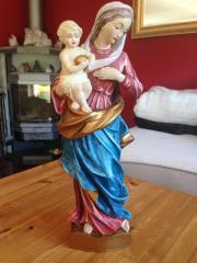 Madonna, Steinzeug, gefasst