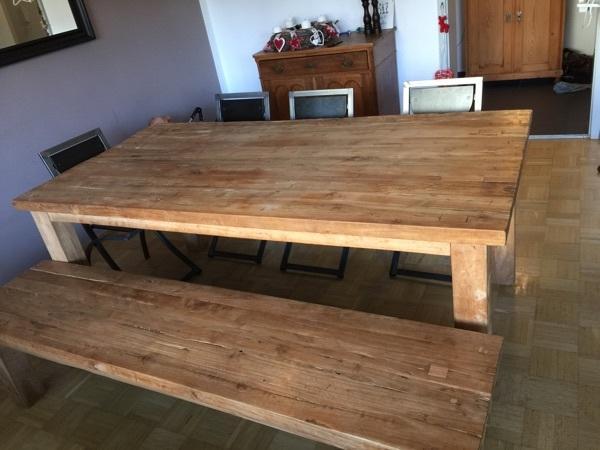 Teakholz tisch neu und gebraucht kaufen bei for Tisch gebraucht
