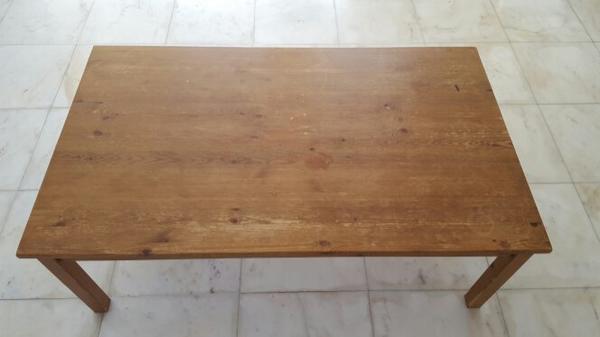 Holztisch rustikal kaufen gebraucht und g nstig for Massiver holztisch