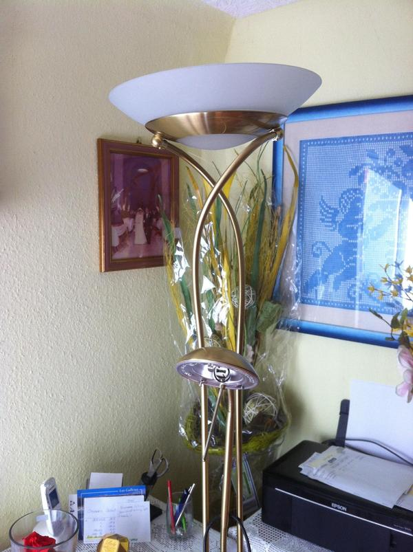 messing stehlampe in linkenheim hochstetten lampen. Black Bedroom Furniture Sets. Home Design Ideas