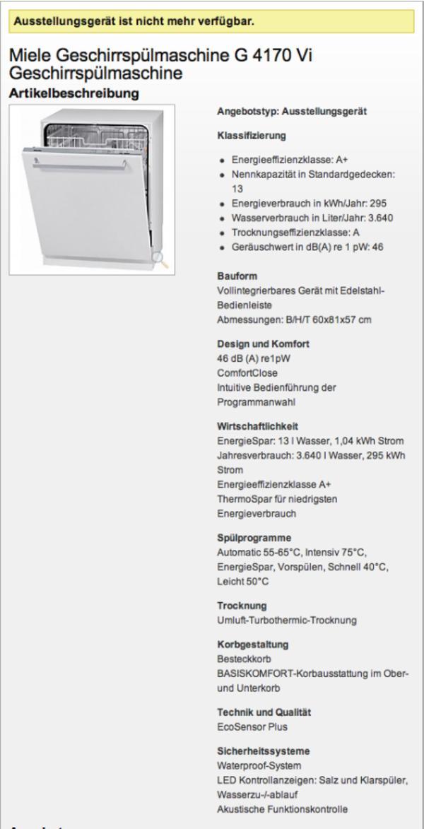 miele  neu und gebraucht kaufen bei dhd24com ~ Geschirrspülmaschine Gebraucht