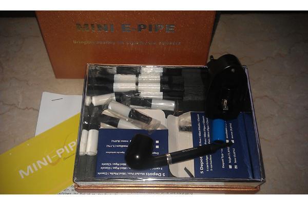 Mini e pipe elektrische pfeife mit 2 akkus ladeger t for Lampen neu isenburg