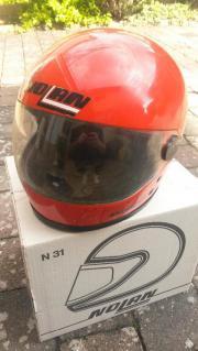 Motorradhelm rot
