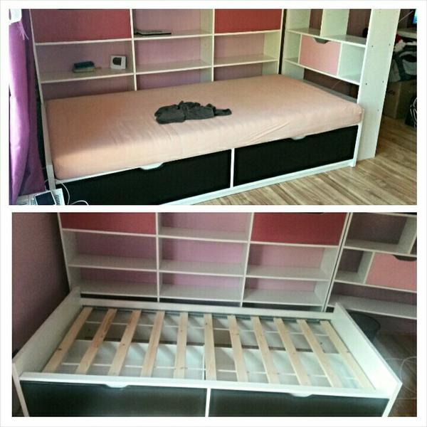 wandschutz bett kinderzimmer dekoration bild idee. Black Bedroom Furniture Sets. Home Design Ideas