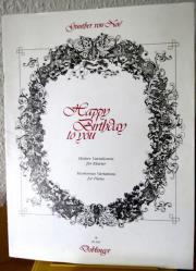Noten: Happy Birthday