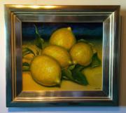 Ölgemälde Stilleben Zitronen